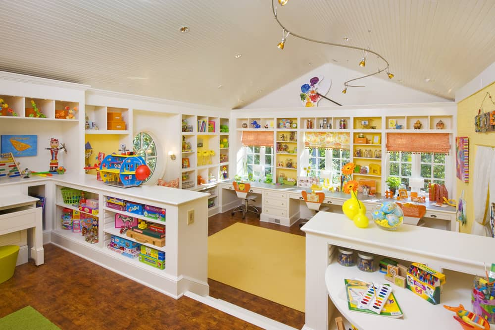 The savvy moms guide milieu design group 39 s kids craft suite for Kids play rooms