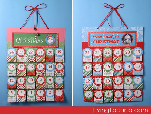 Printable DIY Christmas Advent Calendar. Personalize each day before ...