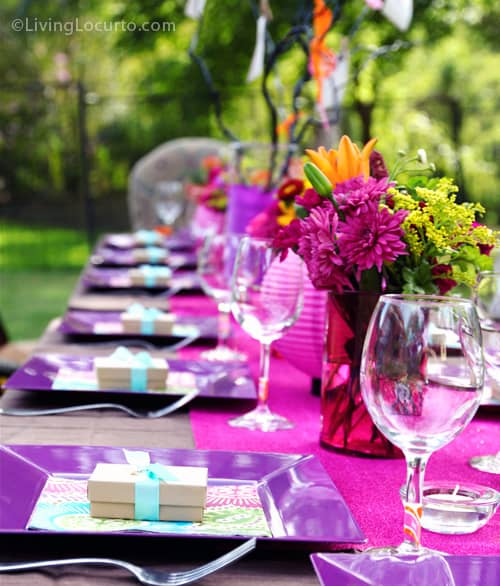 40th birthday party ideas backyard table decorating ideas for Outdoor decorating ideas for birthday party