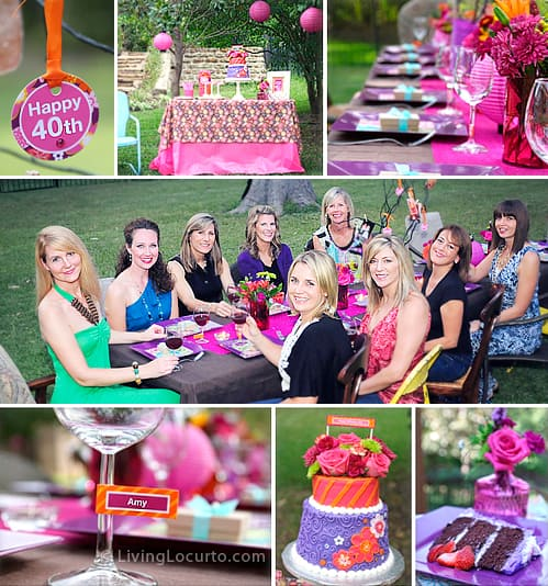 40th Birthday Party Ideas! Beautiful outdoor party ideas and ...